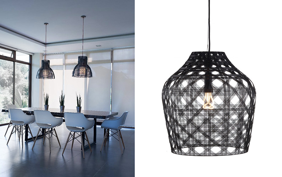 From left: Urban and Macarena pendant lights – Brand: Schema from the Philippines