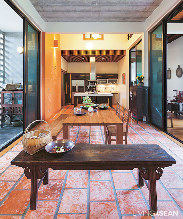 Modern thai style house for Furniture design thailand