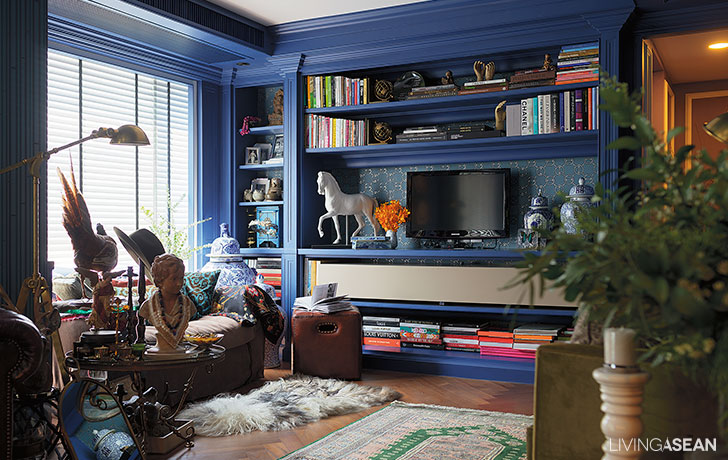 Eclectic Style with Blue Shade of Living