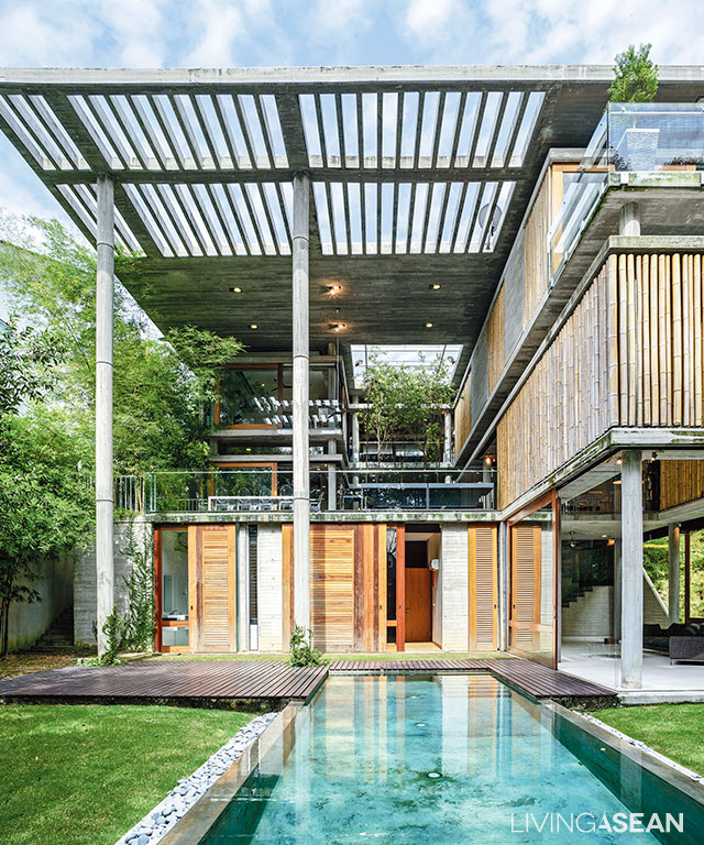 Modern Tropical Bamboo House