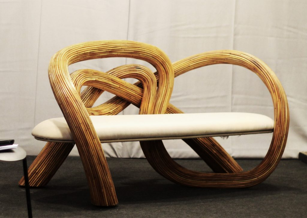 An amazing rattan chair on the show