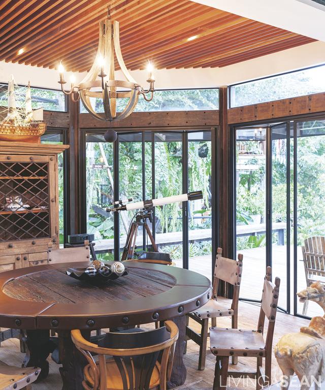 Rustic safari living living asean inspiring tropical for Asean furniture