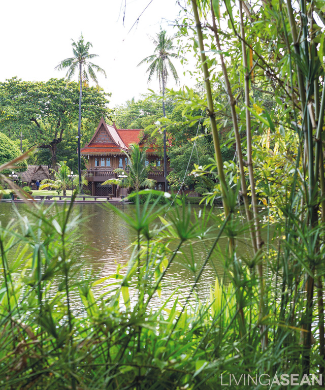 A well-preserved Thai-style home sits at the water's edge evoking fond memories of riverside living not so long ago.