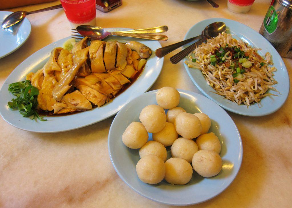Chicken rice balls of Malacca