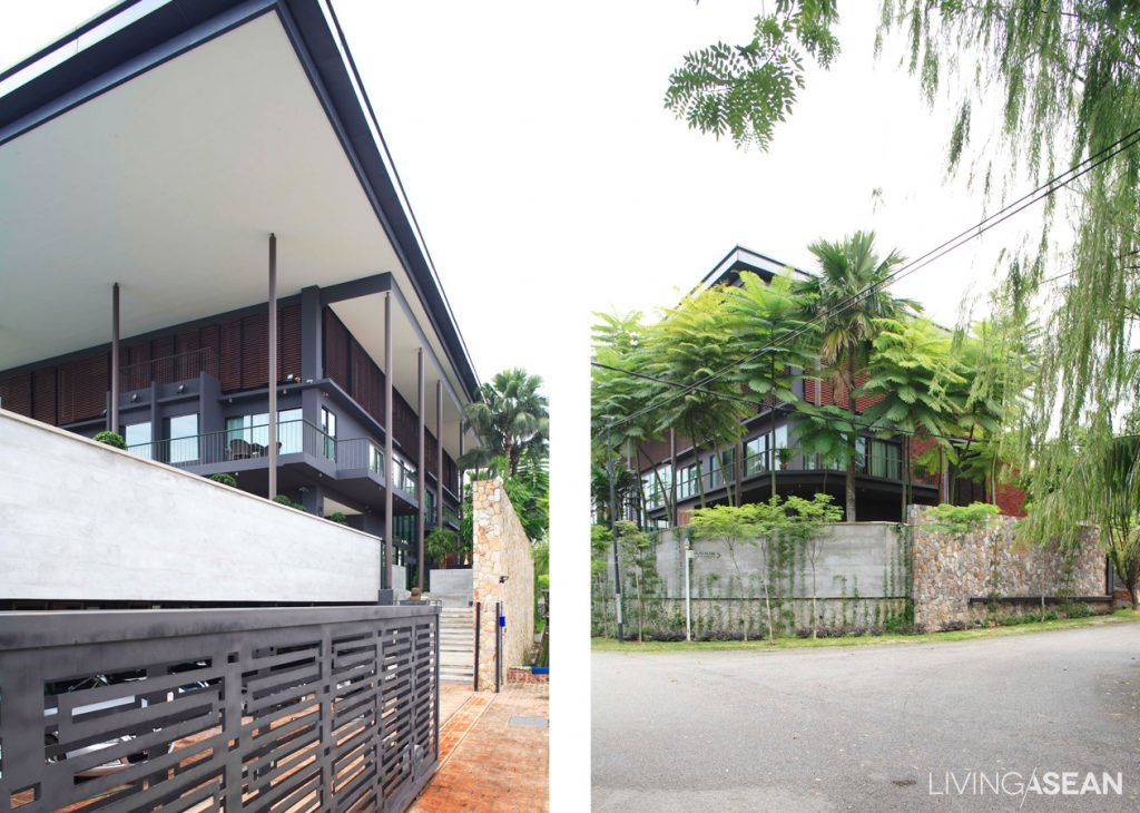 Modern Tropical House With A Smart Roof Living Asean