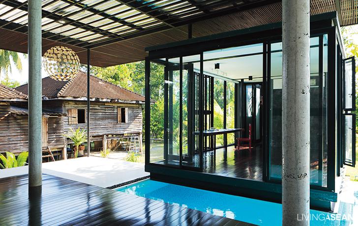 Modern tropical house archives living asean inspiring for Modern stilt house plans