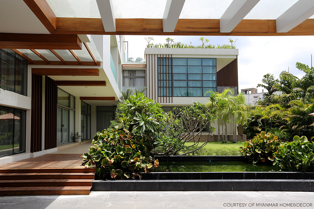 Big L-shaped House with a View // SPINE Architects, Myanmar