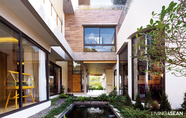 Modern thai house utilizing the good qualities of the for Thai modern house style