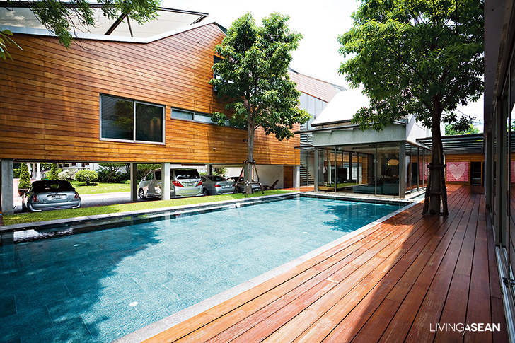 Extended Family's Big Wooden House