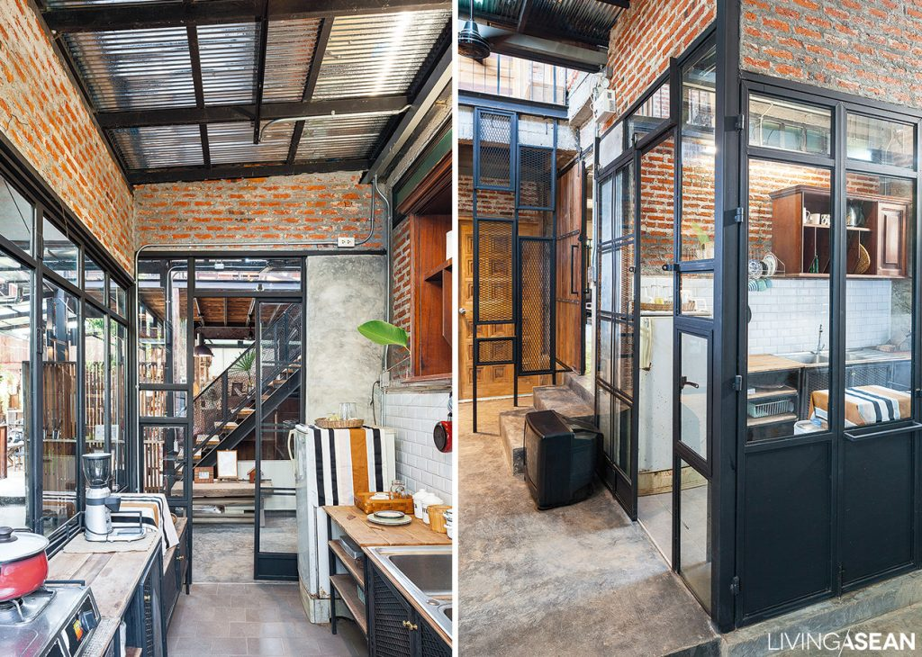 Loft Style Home loft-style home built out of much older thai houses. /// living