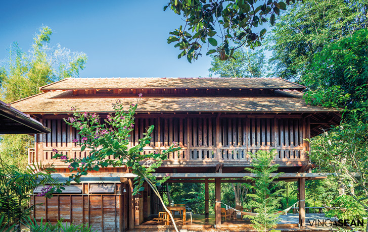 Wooden Thai House in the Lanna Tradition