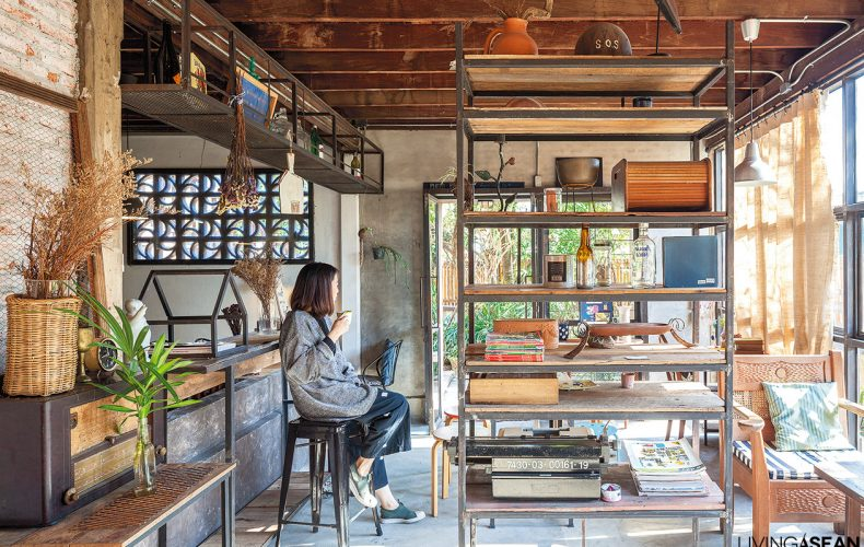 Loft-style Home Built out of Much Older Thai Houses