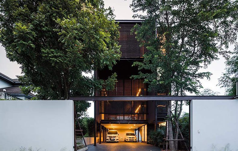 Steel House Surrounded by Nature