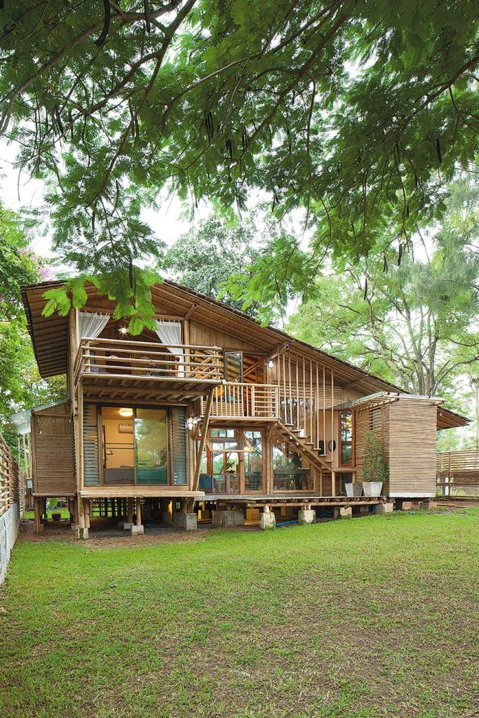 A Bamboo House Embraced By Nature