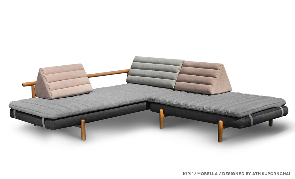 Thai style chaise lounge and wedge pillows from the for Furniture design thailand