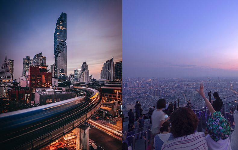 Mahanakhon SkyWalk; Best place to see the breathtaking skyline of Bangkok