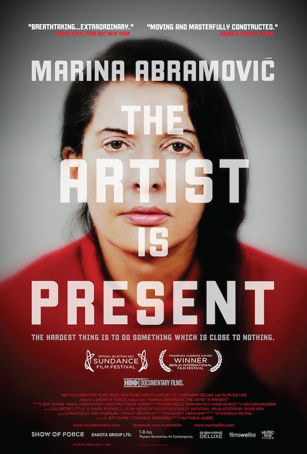 "The portrait of Marina Abramovic for ""The Artist Is Present"" exhibition as it appeared on the cover of a 2012 publication. The picture was taken during a 2010 live performance. I Photo by Marco Anelli"