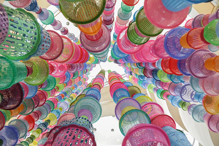 Basket Tower; Artist: Choi Jeong Hwa;