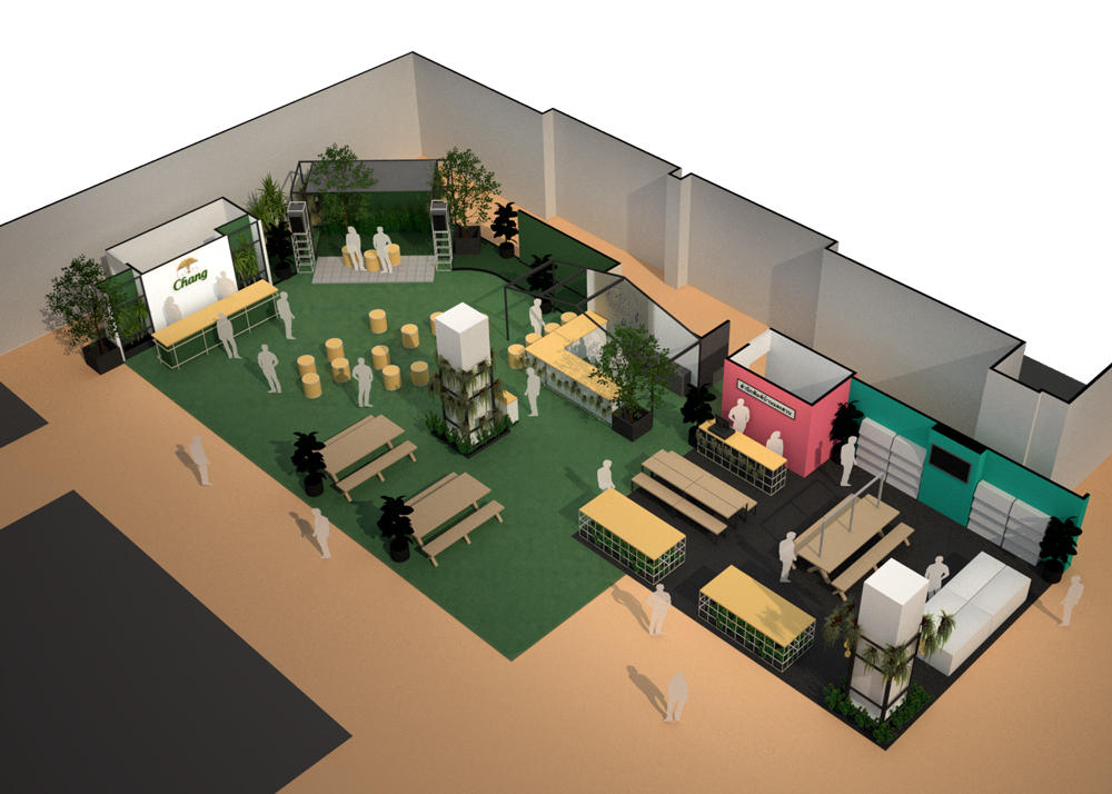 A rendering of the interior of The Book House and Chang Green Oasis at 2019 Baanlaesuan Fair Select