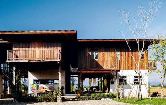 Wood House Amid the Rice Fields