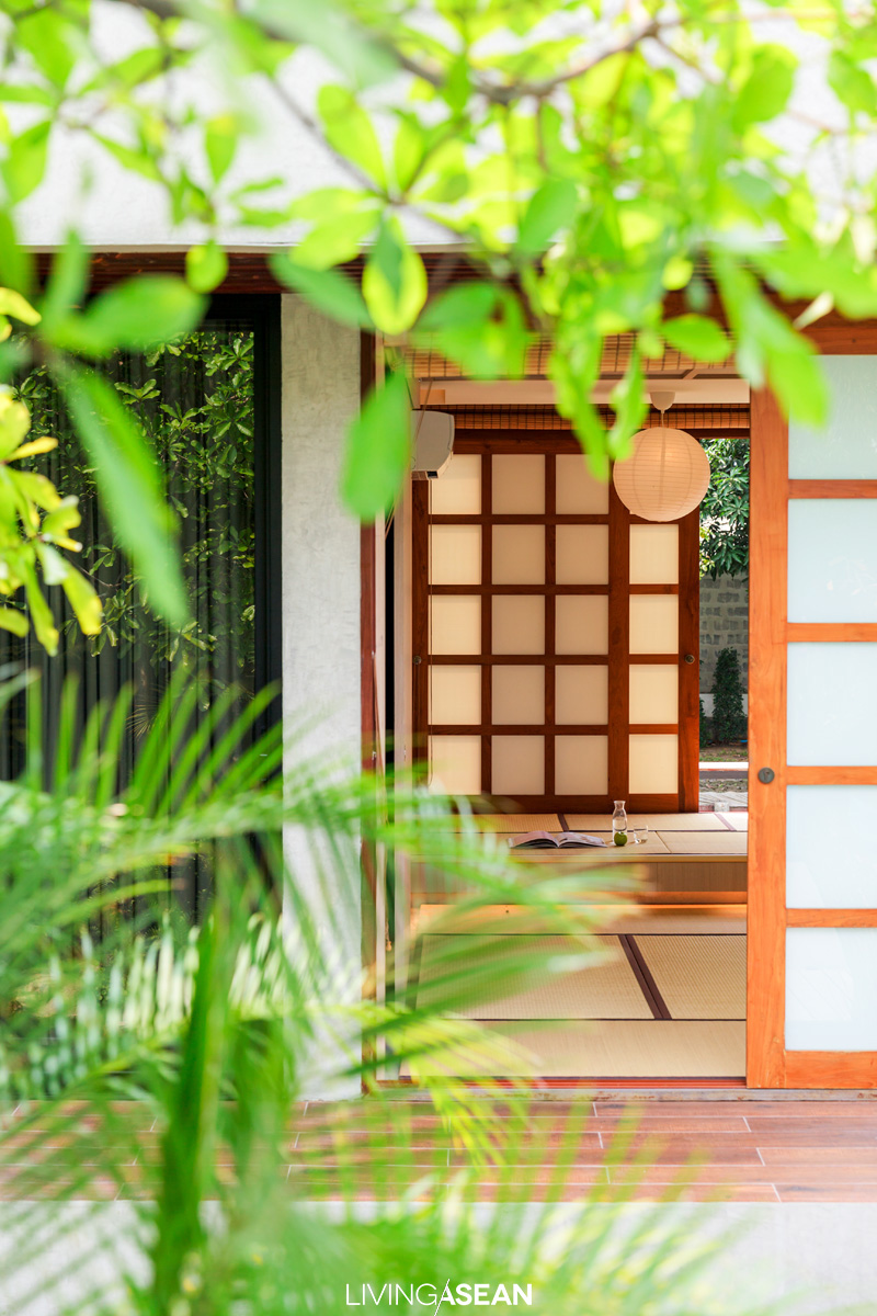 The Japanese room reveals an affinity for traditional residential architecture. It's little wonder that he often visits Japan for inspiration.