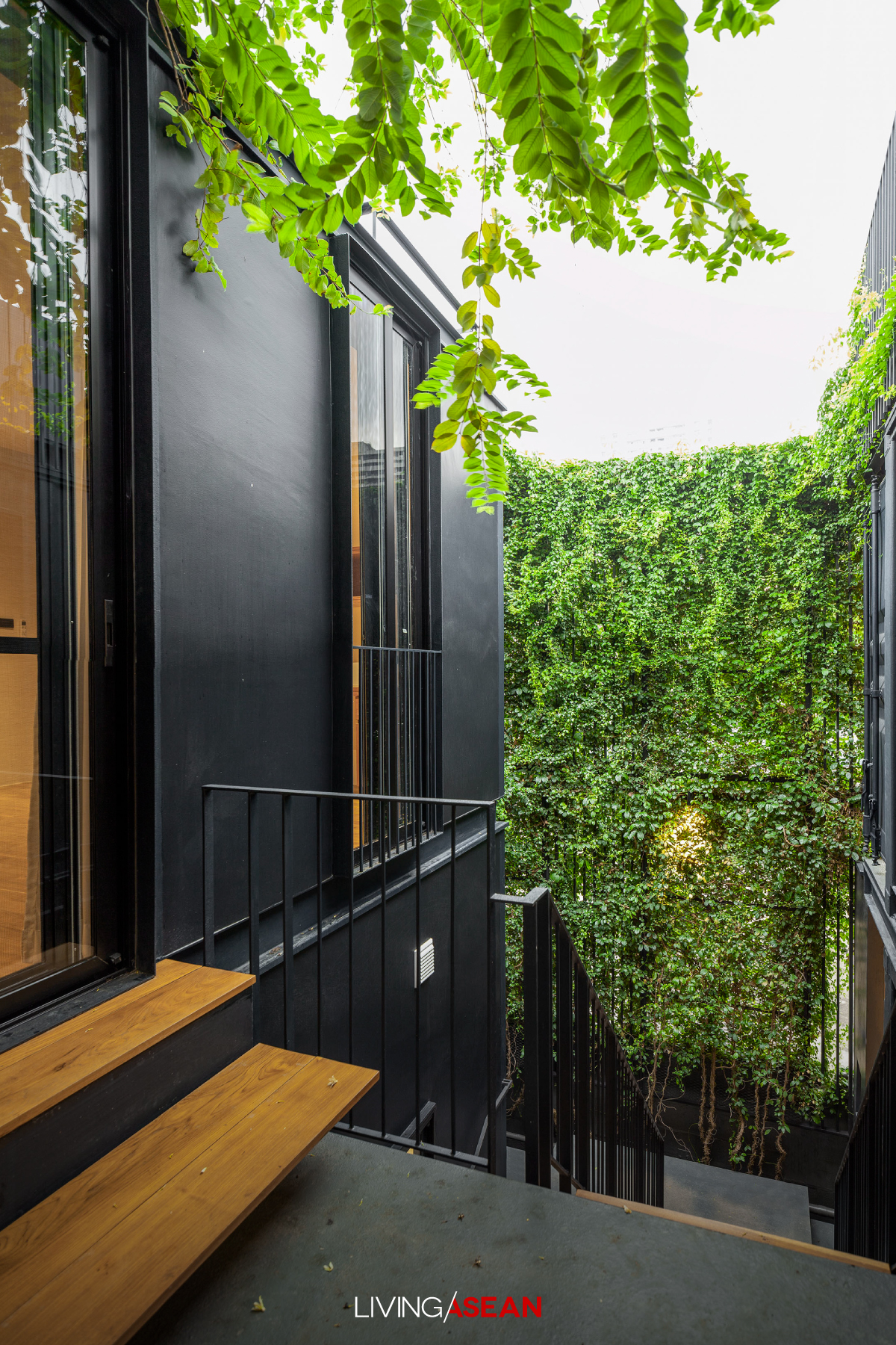 Container Home Amid an Enchanted Forest Garden