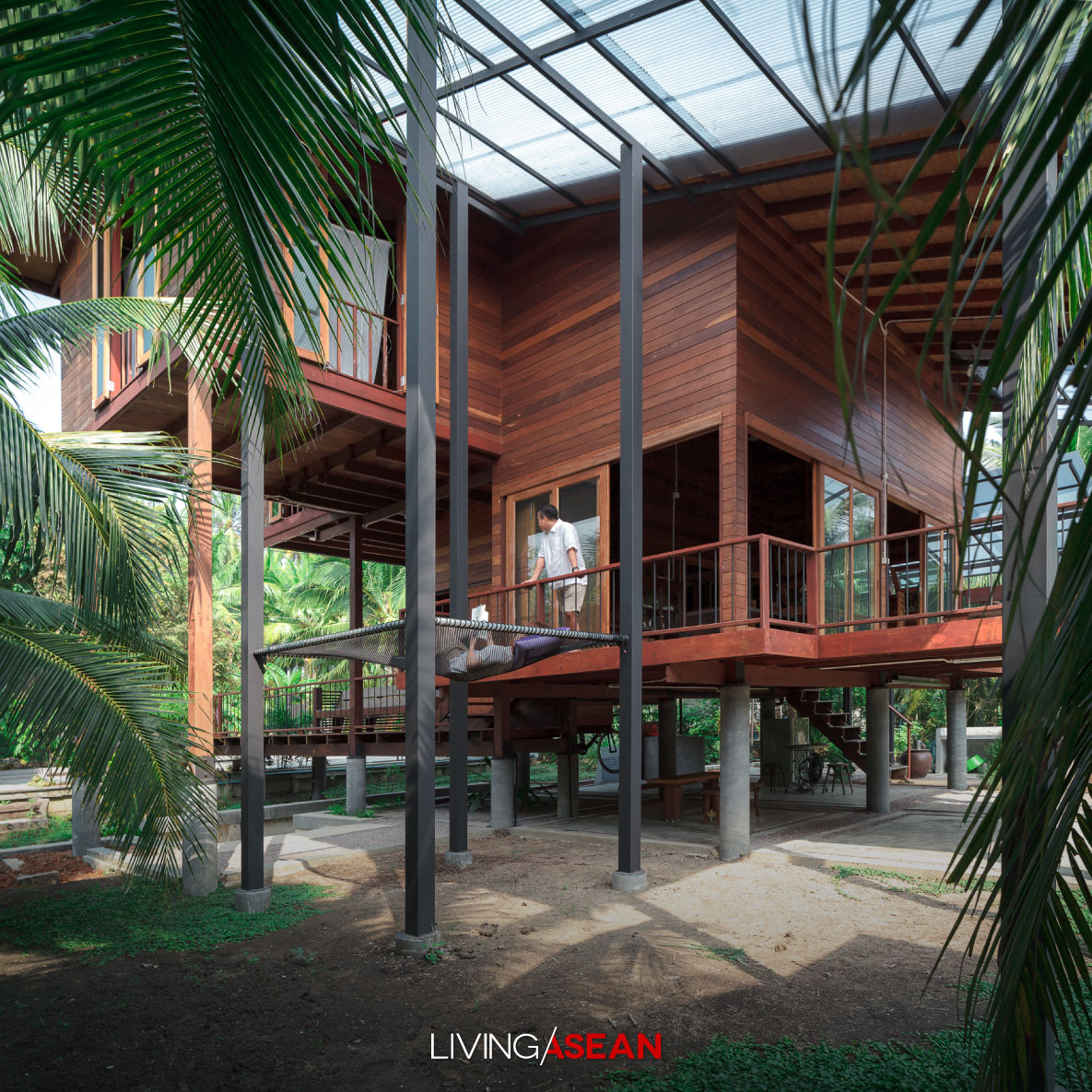 Beautiful House on Stilts in a Coconut Grove