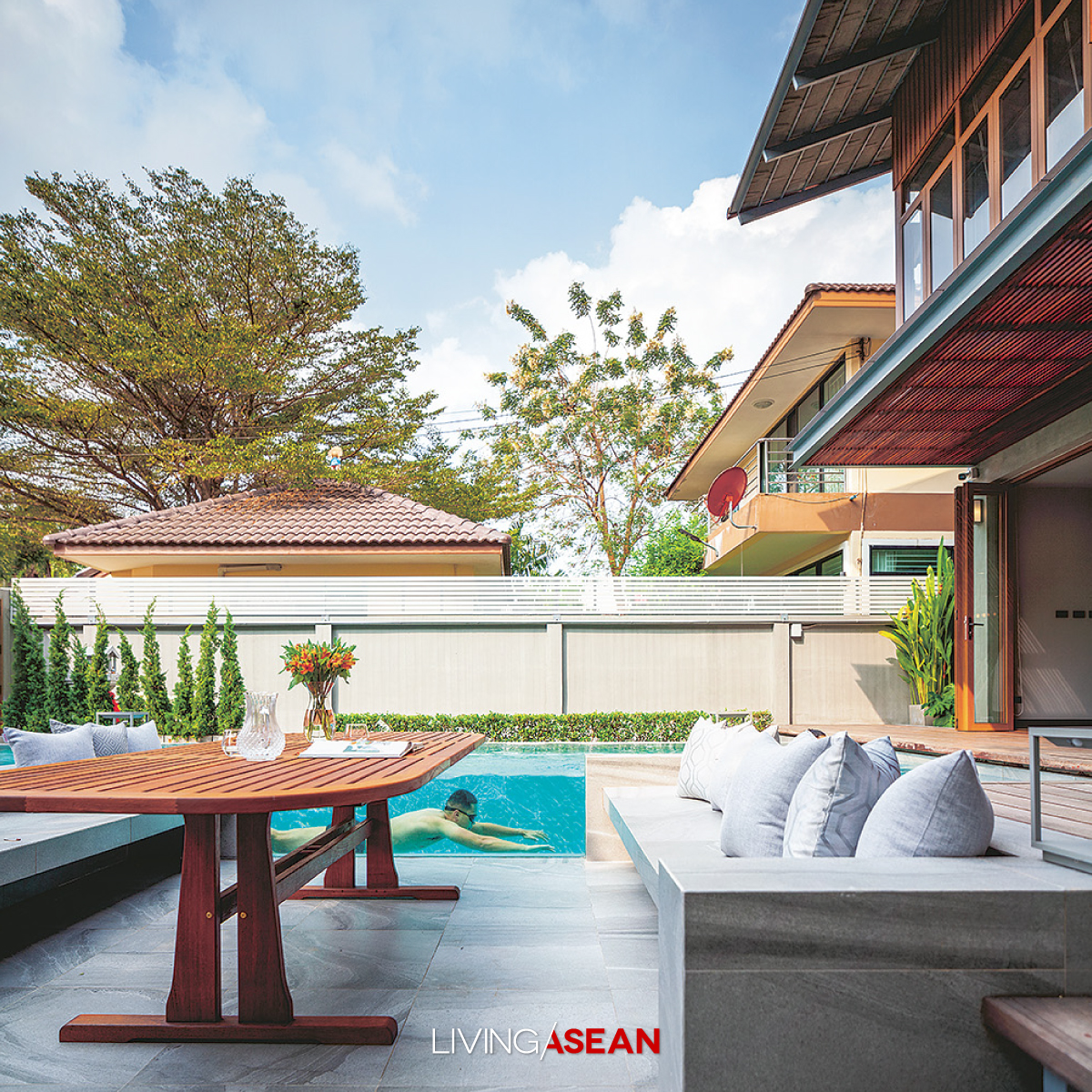 A Modern Tropical Home Inspired by Cluster House Design